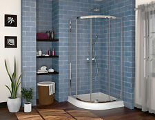 "FLEURCO ALINA SEMI-FRAMELESS ROUND CORNER SHOWER DOOR 36""x36""x70"""