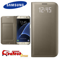 Custodia LED VIEW COVER Originale Samsung Per Galaxy S7 edge G935F Luminosa Gold