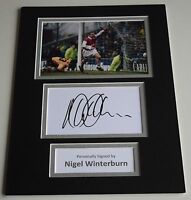 Nigel Winterburn Signed Autograph A4 photo mount display Arsenal Football & COA