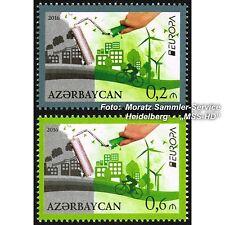 Azerbaiyán Azerbaijan Europa cept 2016, medio ambiente/think Green, kmpl. frase **