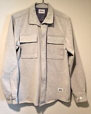 NORSE PROJECTS White Denim Double Pocket Elbow Patch Bekan Jeans Shirt Jacket L
