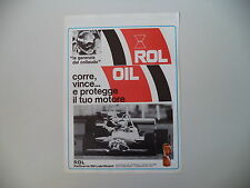 advertising Pubblicità 1981 ROL OIL ROLOIL