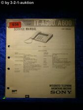 Sony Service Manual IT A500 / A600 Telephone (#0936)