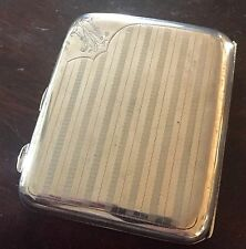 1922 Birmingham Cigarrillo De Plata Maciza/Note/Card Case