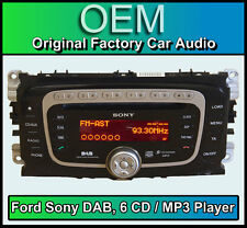 Ford C-max DAB radio with 6 Disc CD MP3 player, Ford Sony car stereo + Code