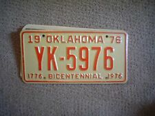 OKLAHOMA BI CNTL 1976       LICENSE PLATE    BUY ALL STATES HERE