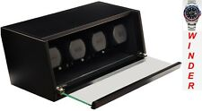 Luxury Display Quad Automatic Watch Winder model:Castle-04MB /LED Lights