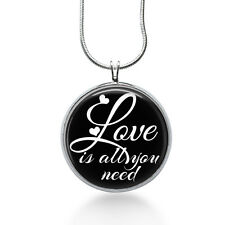 Quote necklace-Love is all you need--Song Lyric Necklace-The Beatles-Love pendan