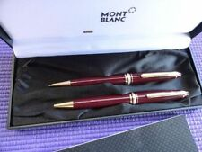 MONTBLANC BORDEAUX MEISTERSTUCK BALLPOINT PEN  &  0.7 PENCIL  SET IN BOX   ***