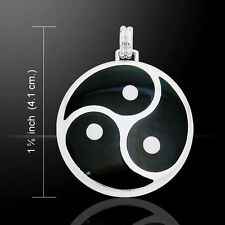 Oberon Zell Triskelion Triskele .925 Sterling Silver Pendant by Peter Stone