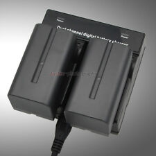 Dual Charger +2x Battery NP-F750 NP-F770 For Sony CCD TRV DCR Camera Camcorder