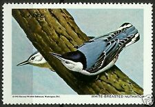 WHITE-BREASTED NUTHATCH, NATIONAL WILDLIFE FEDERATION CINDERELLA 1969, MNH
