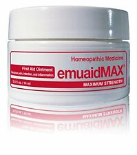 EMUAID MAX First Aid Ointment 0.5 oz For Eczema Acne Dermatitis Psoriasis & More