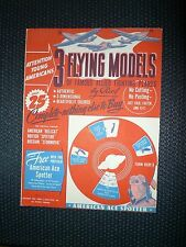 1944 3 Flying Models allied fighting planes Paper kit, W/ Ace Spotter Unused