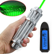 Military Powerful 1W 532nm Green Laser Pointer Pen High Power Beam Light Lazer