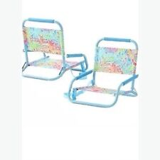 Set Of Two Lilly Pulitzer Lovers Coral Beach Chairs