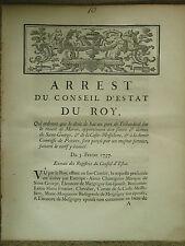 ARRET 1737 : DROIT DE BAC SUR LA MARNE PORT DE TRIBARDOUL (SEINE ET MARNE)