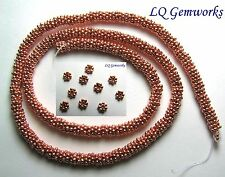 "16"" Str BRIGHT COPPER 5mm Daisy Spacer Beads"