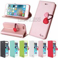 Luxury Cute Cherry Magnetic Flip Leather Wallet Case Cover For Samsung Galaxy