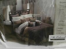 NEW MCLELAND DESIGN 30 PIECE BROWN COMFORTER SET SIZE CALIFORNIA KING BED IN A B