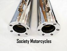 Ultra Limited Harley Davidson Chrome Revolver Slip-On Mufflers Exhaust Pipes HD