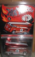 HOT  WHEELS  CUSTOMIZED  VW  DRAG  BUS #6  Red  Line  Club  scale  1:64  yr.2006