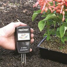 Rapitest 4 Way Garden Soil PH Temp Fertility UV Meter Analyzer NEW 1880 Tester