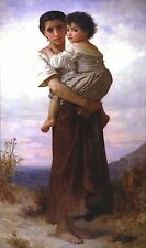 Young Gypsies by William Bouguereau Giclee Canvas Print or Fine Art Poster NEW