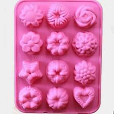 Silicone 12 Shaped Cake Tin Chocolate Baking Muffin Mould Cupcakes Lot