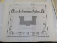c1750 Antique Print/ HANOVER OPERA HOUSE / Architectural / PLAN VIEW / GERMANY