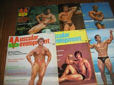 Lot Of 6 Muscular Development Bodybuilding Magazines/1978 COMPLETE YEAR