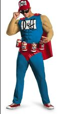 The Simpsons Adult Duffman Muscles Duff Man Beer Costume - Plus Size XXL 50-52