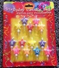 Happy Birthday Colorful Letters Star Shape Cake Candle Set