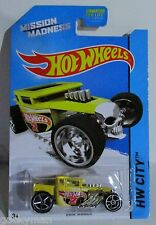 Hot Wheels 2014 hw city mission madness scavenger hunt bone shaker yellow 1 / 4