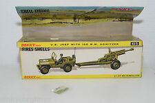 DINKY TOYS 615 U.S. US JEEP WITH 105MM HOWITZER SET ORIGINAL EMPTY BOX EXCELLENT
