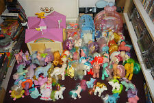 Massive G1 My Little Pony Lot 45 Ponies Megan Show Stable Poof Puff 100+ Access