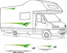MOTORHOME VINYL GRAPHICS STICKERS DECAL CAMPER VAN RV CARAVAN HORSEBOX 2 GREENS