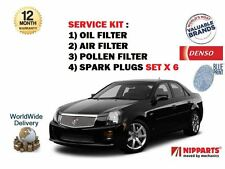 FOR CADILLAC CTS 2.8i V6 2005-  SERVICE OIL AIR  POLLEN FILTER + SPARK PLUGS SET