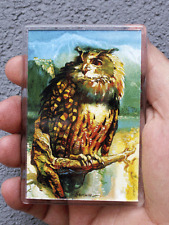 Owl Art Fridge or Office Magnet Print of Original Painting painted by S.Hahonin
