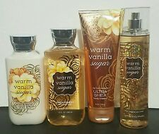 Warm Vanilla Sugar Bath & Body Works FRAGRANCE MIST SPRAY LOTIONS Set Of 4!