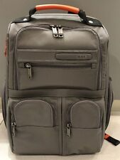 *NEW* Tumi Grey Orange Compact Laptop Brief Backpack Travel Luggage Bag #263173