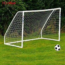 New 12x6FT Full Size Football Net Soccer Goal Post Junior Sports Training Nets