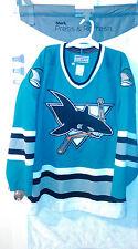 San Jose Sharks Teal Original 1990s Vintage CCM Jersey Size 48