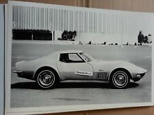 """12 By 18"""" Black & White PICTURE 1971 Corvette Stingray"""