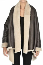 EXQUISITE AUTHENTIC BLUMARINE BROWN LEATHER  SHEARLING JACKET (NWOT) SZ 44 IT