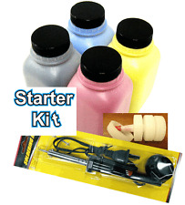 (STARTER KIT) GLOSSY 4 Toner Refill for HP Pro M252dw, M277dw + 4 Chip + TOOL