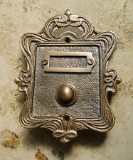 Geschenknet Antik Messing Klingel 1 Jugendstil Klingelschild Klingelplatte  K22A