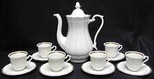 Walbrzych China Porcelain Empire Demitasse Set Pot, Cups and Saucers - Poland