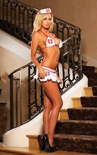 Hustler Lingerie 3PC Naughty Nurse Bikini Costume Set *ONE SIZE*