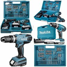 MAKITA 18v CORDLESS COMBI DRILL COMPLETE KIT x70 QUALITY PIECES IN MAKITA CASE